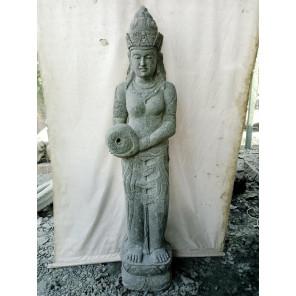 Statue en pierre naturelle verseuse d'eau déesse Dewi chakra  2 m