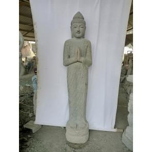 Statue en pierre naturelle verseuse d'eau déesse Dewi prière  2 m