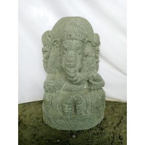 Statue en pierre volcanique Ganesh de jardin 50 cm