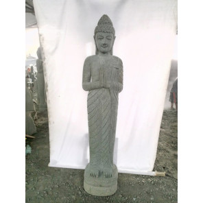 Stone standing Buddha garden statue prayer 2 m