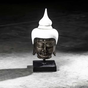 Tête bouddha moyen modèle Blanc 58 cm
