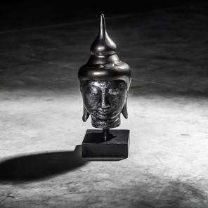 Tête bouddha petit modèle Noir 40 cm