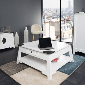 Thao white mahogany coffee table 85
