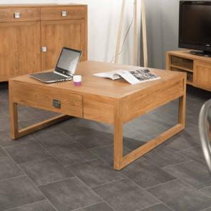 Teak living room coffee table