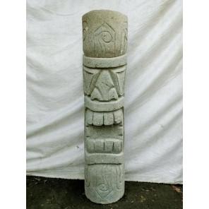 Tiki d'Océanie modèle rumbut statue en pierre volcanique 1 m