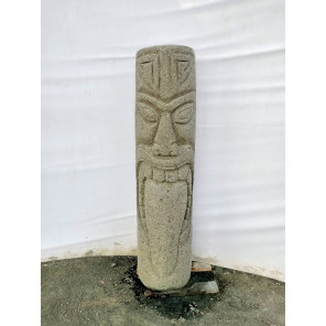 Tiki polinesio estatua de piedra volcánica exterior 1 m