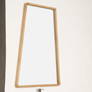 teak bathroom mirror