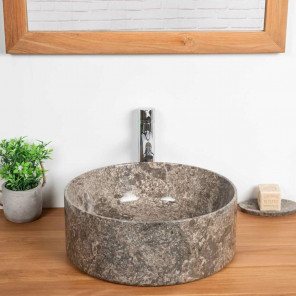 Ulysse grey marble countertop bathroom sink 40