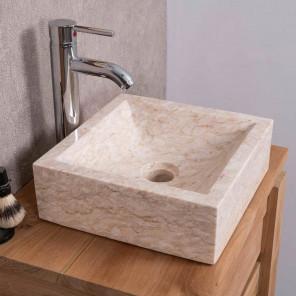 vasque en marbre à poser 30cm x 30cm Alexandrie