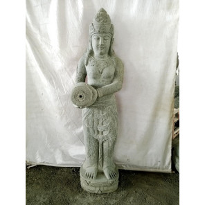 Water pouring goddess Dewi natural stone statue 152 cm