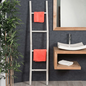 bamboo bathroom towel holder ladder