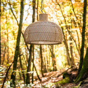 Wicker hanging lamp - 44 cm