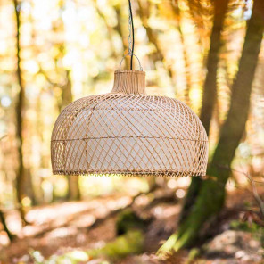 Wicker hanging lamp - 59 cm