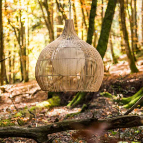 Wicker hanging lamp - 61 cm