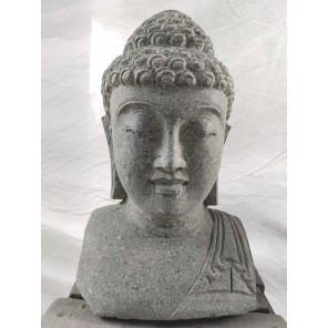 Zen Buddha outdoor garden bust statue 40 cm