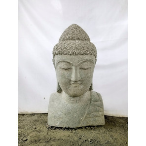 Zen decorative Buddha volcanic rock bust statue 70 cm