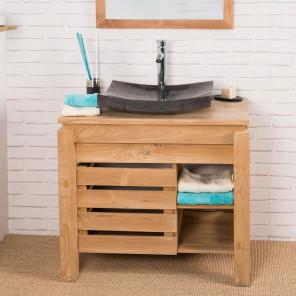 Zen teak bathroom vanity unit 85 cm