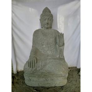 Zen volcanic rock Buddha garden statue chakra pose 120 cm