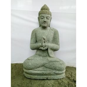 Zen volcanic rock seated Buddha statue chakra pose 80 cm
