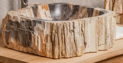 vasque en bois p trifi vasque de salle de bain en bois fossilis. Black Bedroom Furniture Sets. Home Design Ideas