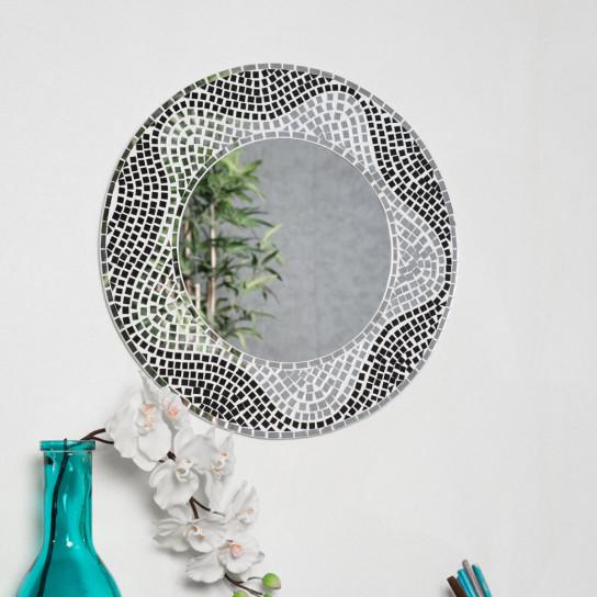 Espejo Mosaico de diseño 50 cm salón dormitorio