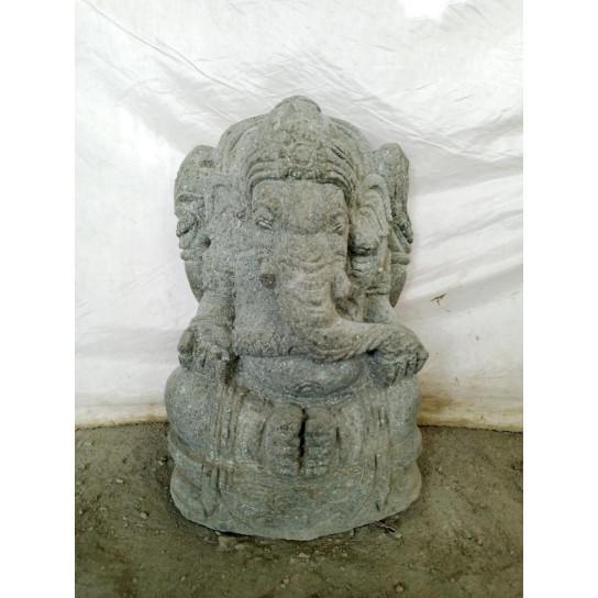 Estatua de jardín de piedra volcánica Ganesh 50 cm