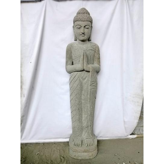 Estatua de piedra Buda de pie rezo 1,50 m