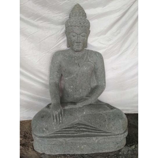 Estatua de piedra de Buda para jardín zen posición ofrenda 1m01