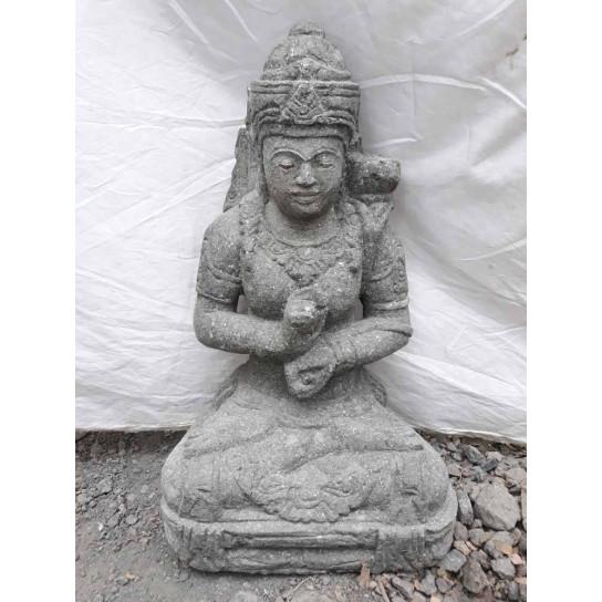 Estatua jardín exterior diosa sentada 1 m
