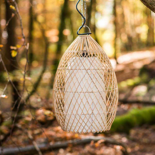 Lampe suspension en osier 37 cm