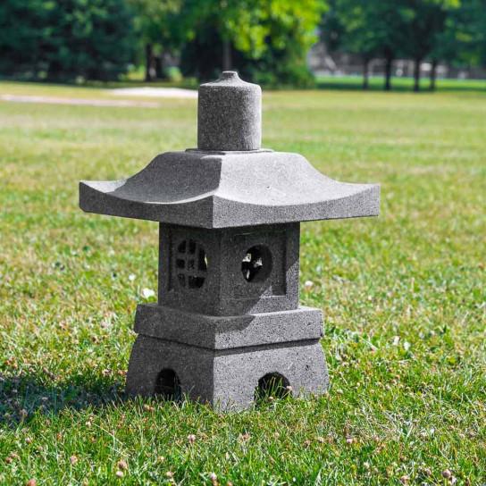 Lava stone Japanese garden lantern 55 cm