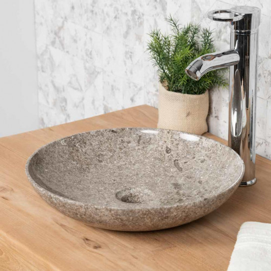 Lysom grey marble countertop bathroom sink 35 cm