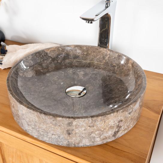 Mino grey marble countertop bathroom sink