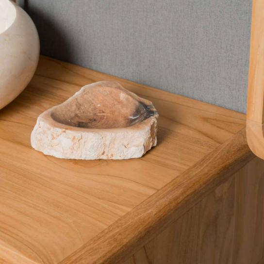 Porte savon en bois pétrifié
