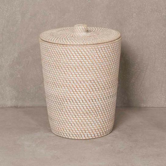 Poubelle de salle de bain en fibre végétale