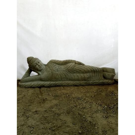 statue Bouddha couché en pierre naturelle 1,20 m