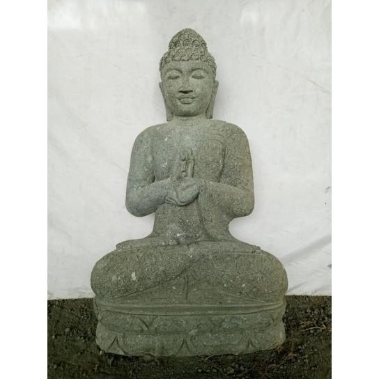 Statue de jardin zen Bouddha pierre en chakra 1m