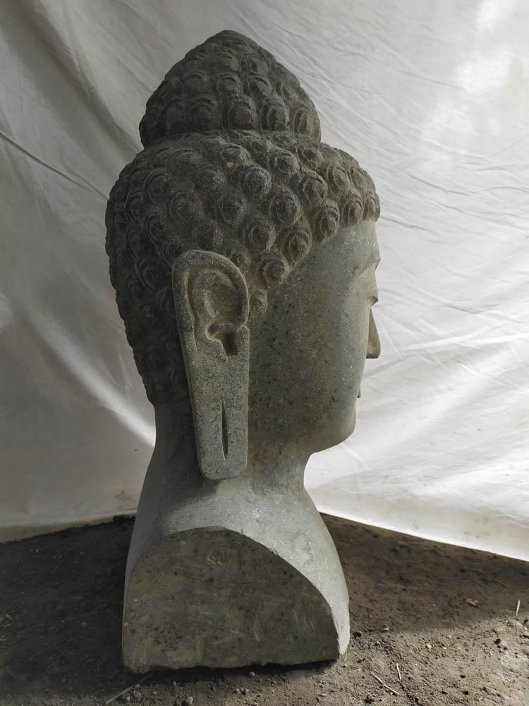 buste de bouddha en pierre jardin zen 40 cm. Black Bedroom Furniture Sets. Home Design Ideas