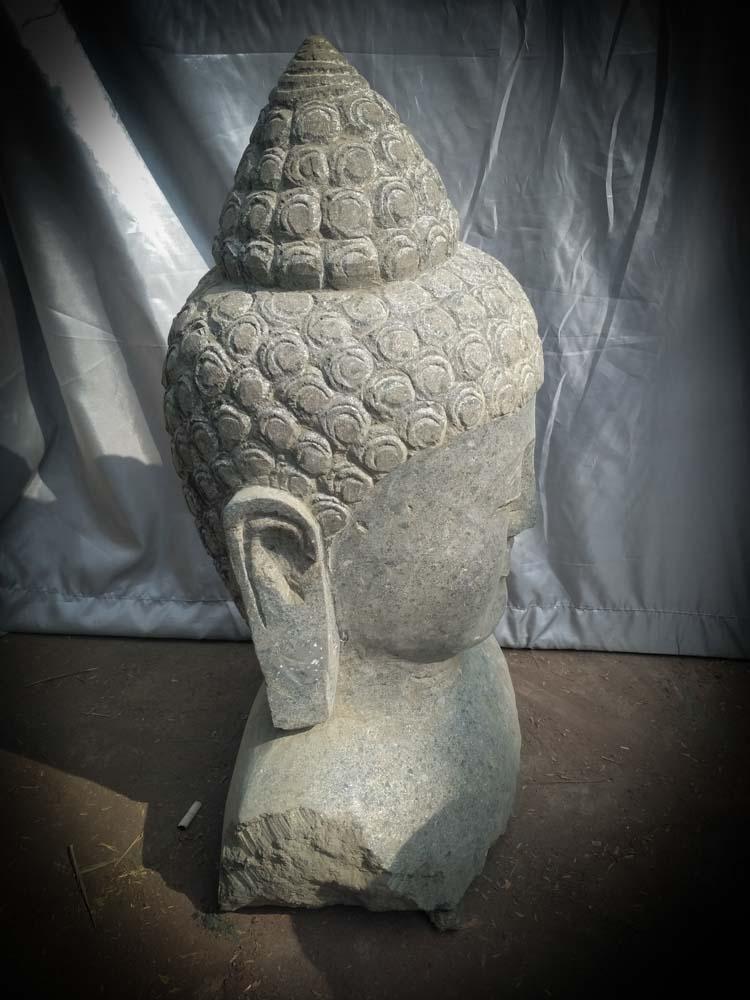 Statue de bouddha buste bouddha en pierre naturelle Statue jardin zen