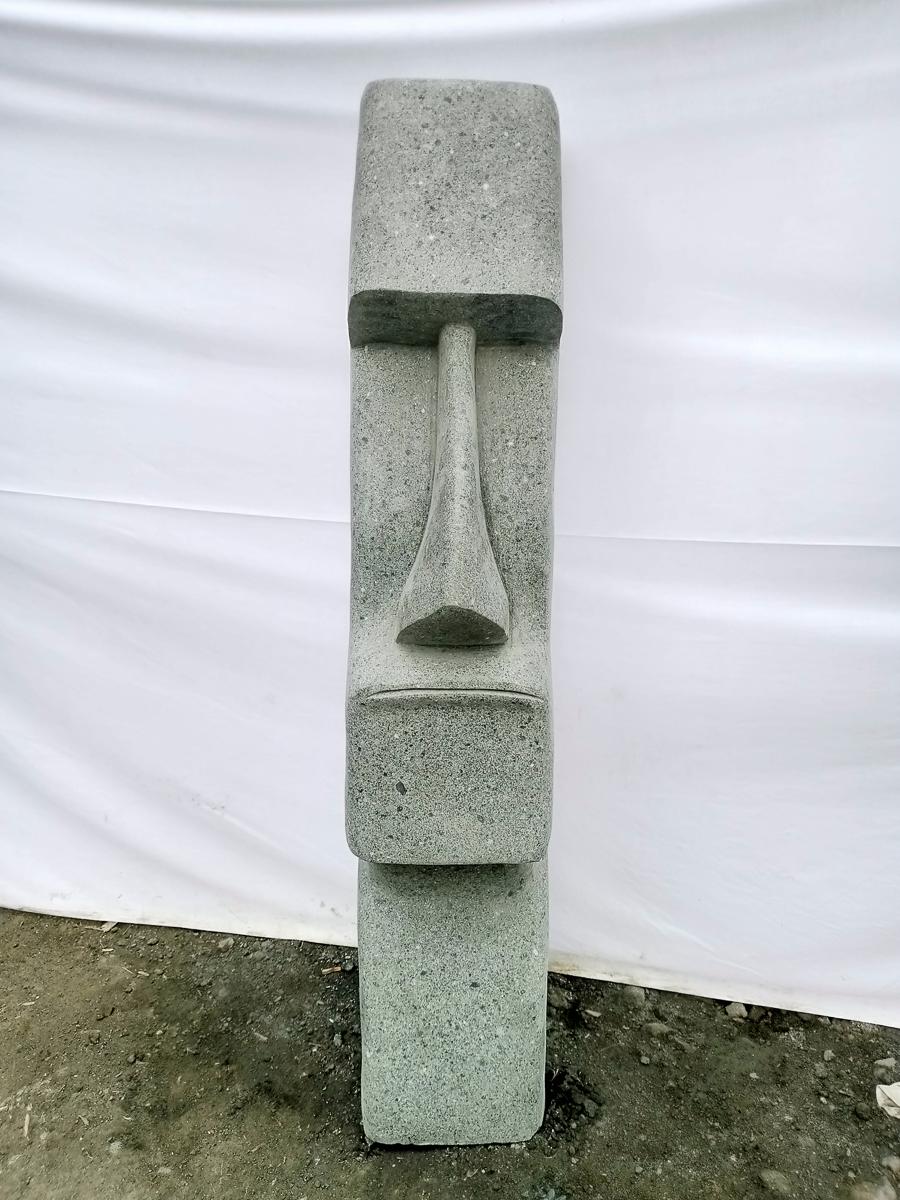 Estatua mo i jard n zen roca volc nica 100 cm - Piedra volcanica para jardin ...