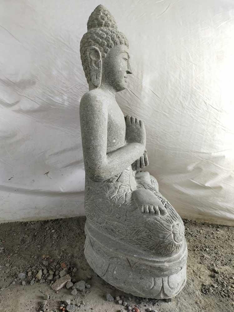 Ext rieur zen statue de bouddha assis position chakra 1m for Exterieur zen