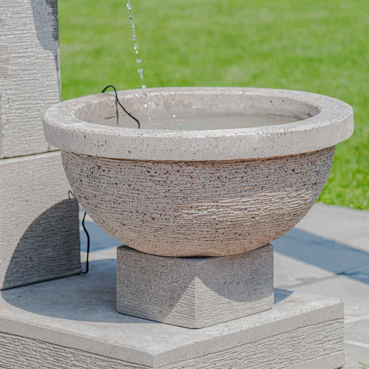 fontaine de jardin fontaine exterieur gris ciment 120cm. Black Bedroom Furniture Sets. Home Design Ideas