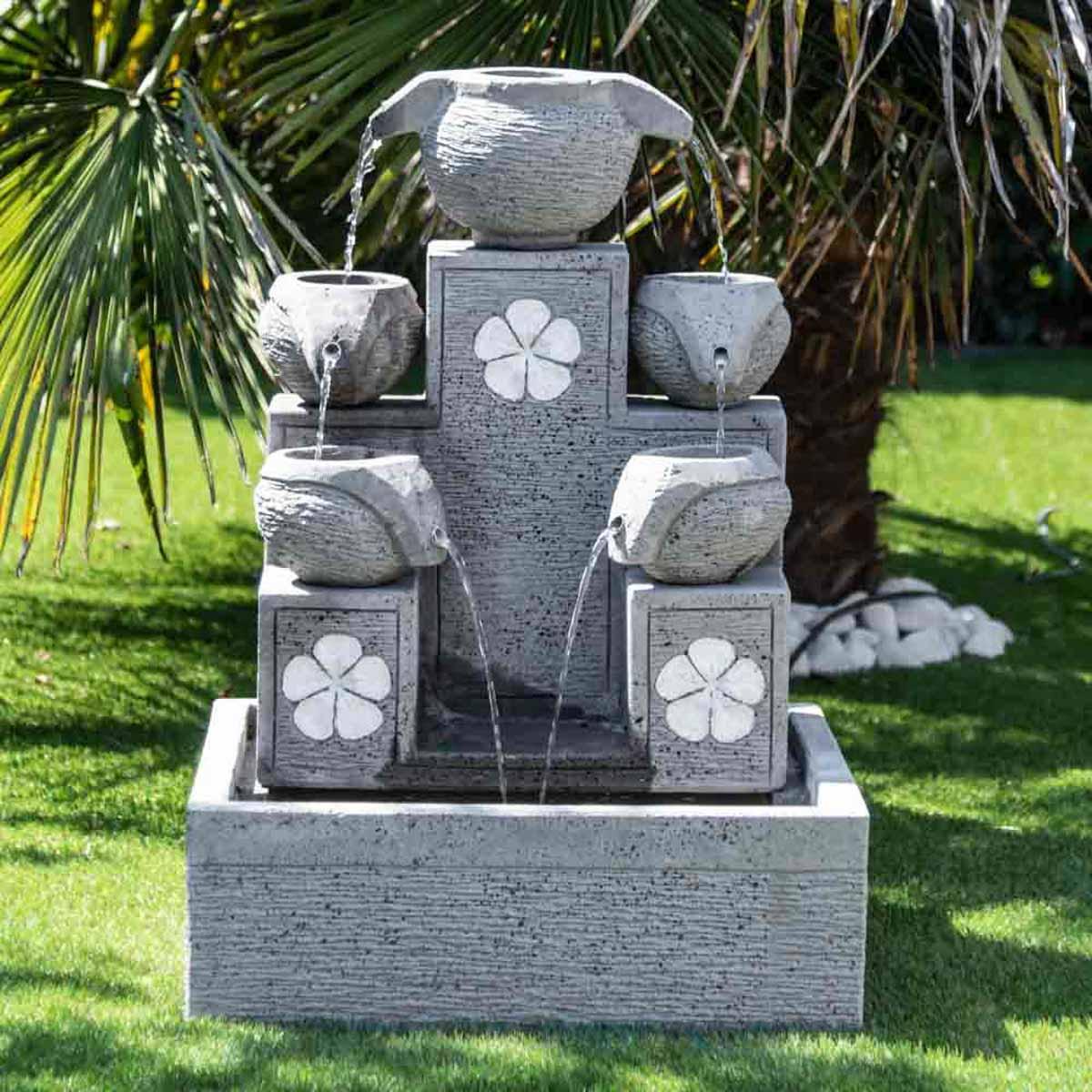 Fontaine De Jardin Cascade 5 Coupes 90cm