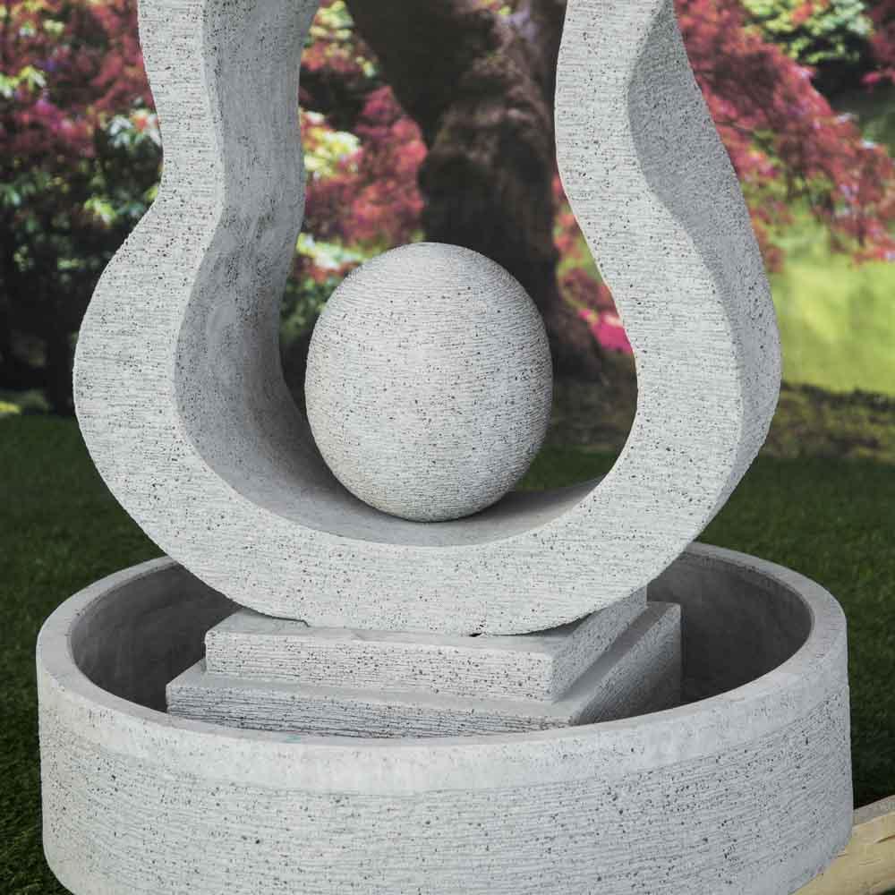 fontaine de jardin fontaine exterieur gris ciment 2m. Black Bedroom Furniture Sets. Home Design Ideas