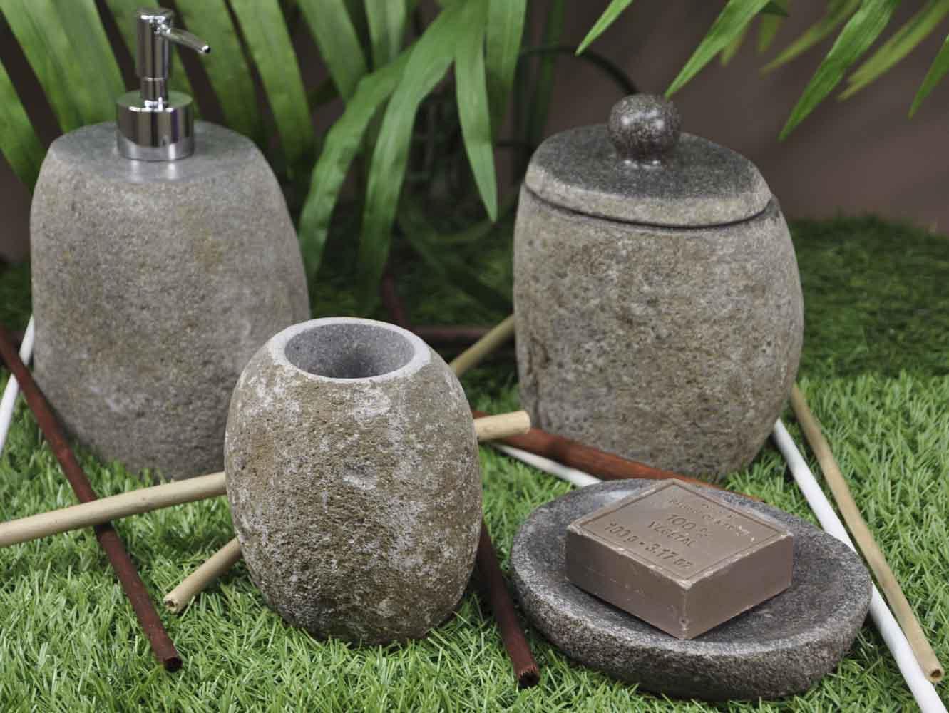 gobelet de salle de bain gobelet en pierre naturelle. Black Bedroom Furniture Sets. Home Design Ideas