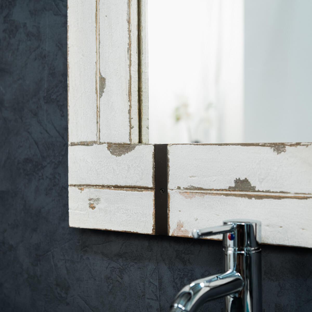 Grand miroir de salle de bain loft 160x80 for Grand miroir metal
