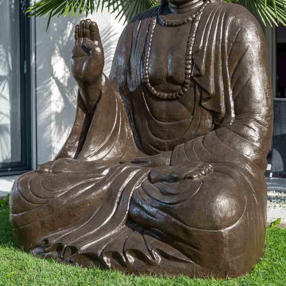 statue de bouddha assis en fibre de verre position. Black Bedroom Furniture Sets. Home Design Ideas