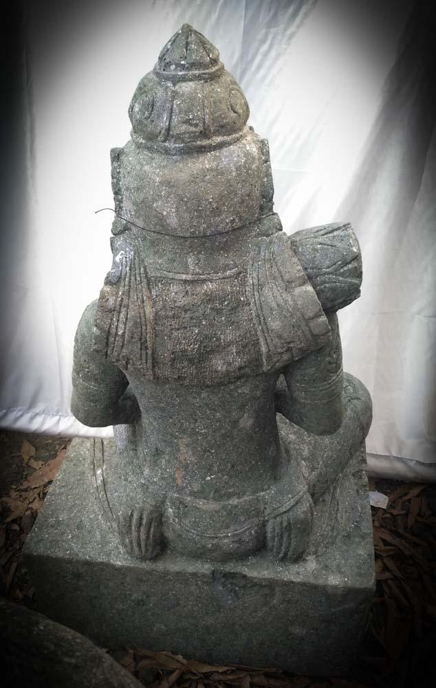 grande statue de jardin zen d esse balinaise en pierre 1m. Black Bedroom Furniture Sets. Home Design Ideas