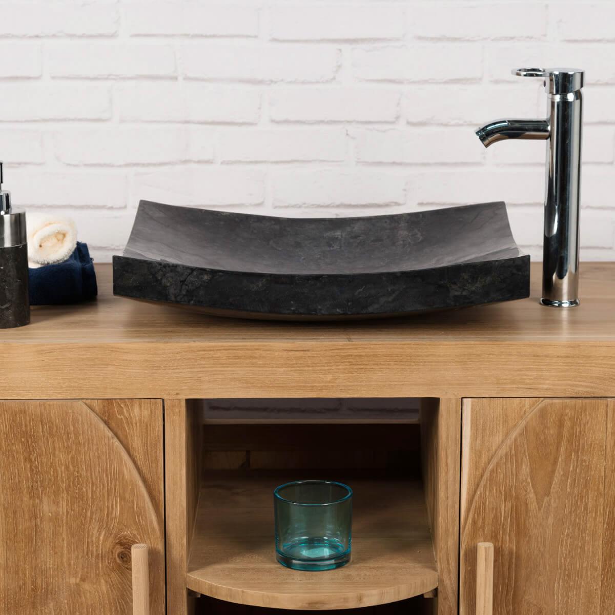 Vasque A Poser Noire Vasque Génes Noir 50cm