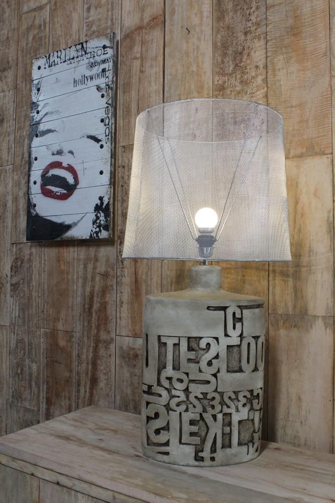 lampe poser d co industrielle 90cm. Black Bedroom Furniture Sets. Home Design Ideas